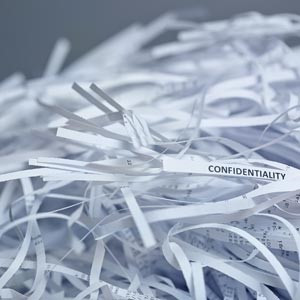 shredded white paper