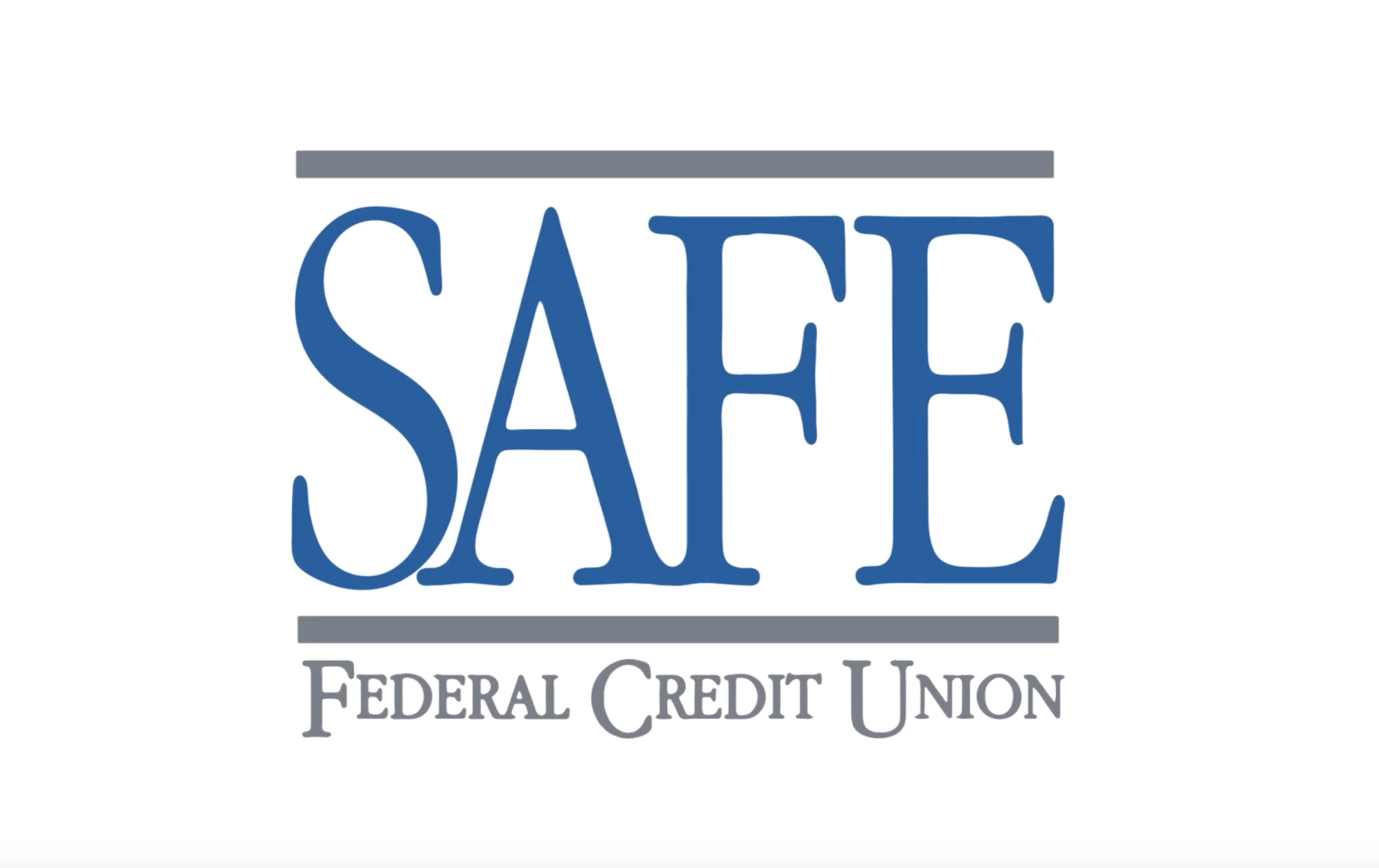 Blue and white SAFE Federal Credit Union Logo
