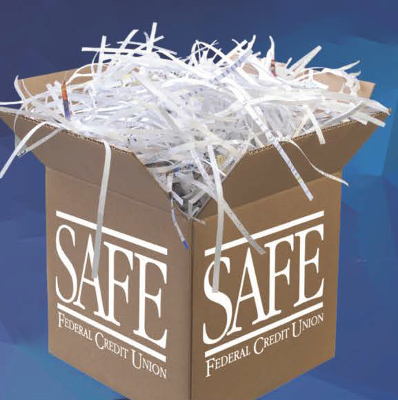 join SAFE for a Free Shred Event.